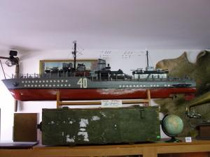 Velký model válečné lodi
