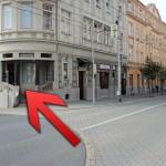 Nová prodejna použitého nábytku v Ostravě - pohled z ulice